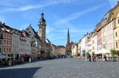 Blick über den Markt von Altenburg / Thür.
