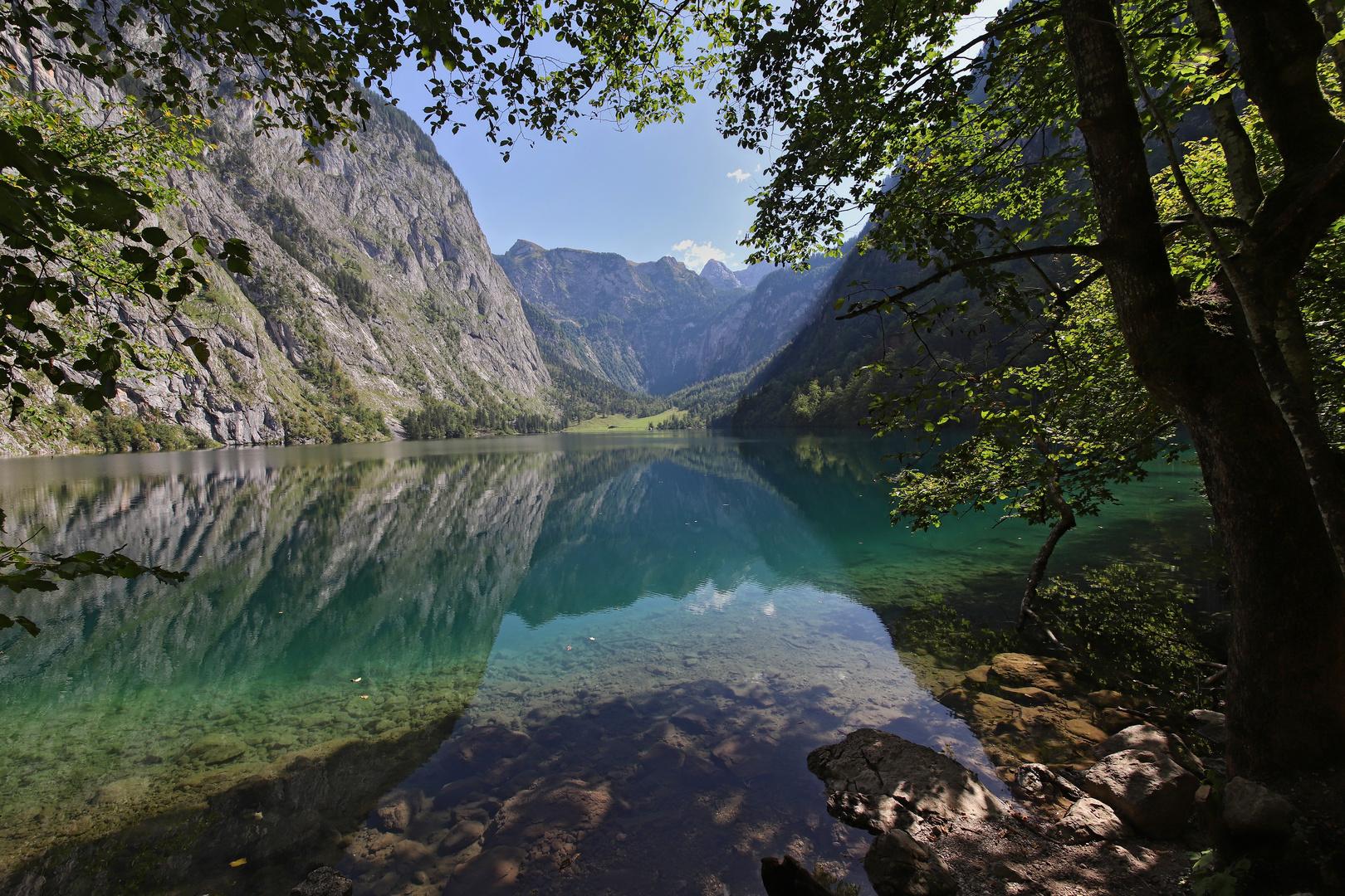 Blick über Den Obersee Zur Fischunkelalm (2019_09_16_6640