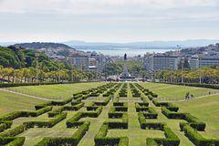 Blick über den Parque Eduardo VII in Lissabon