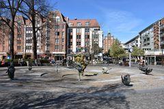 Blick über den Universitätsplatz in Rostock