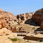 Blick über die alte Nabatäerstadt Petra