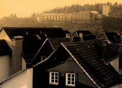 Blick über die Dächer Frankenbergs