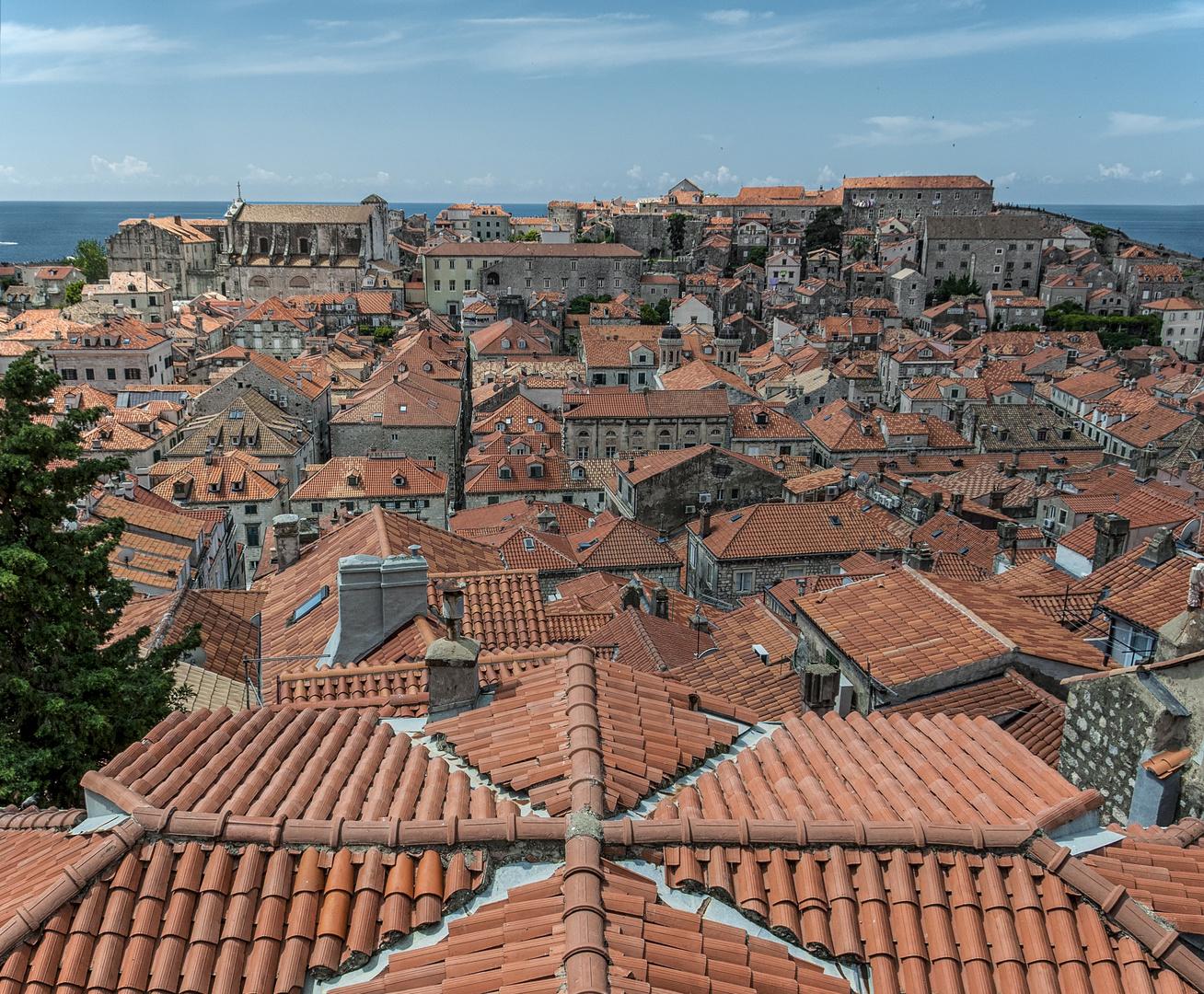 Blick über die Dächer von Dubrovnik