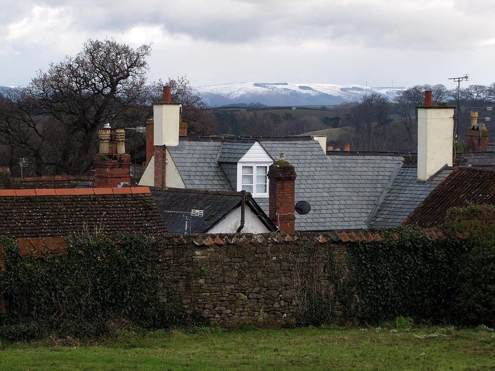 Blick über die Dächer von Dunster II