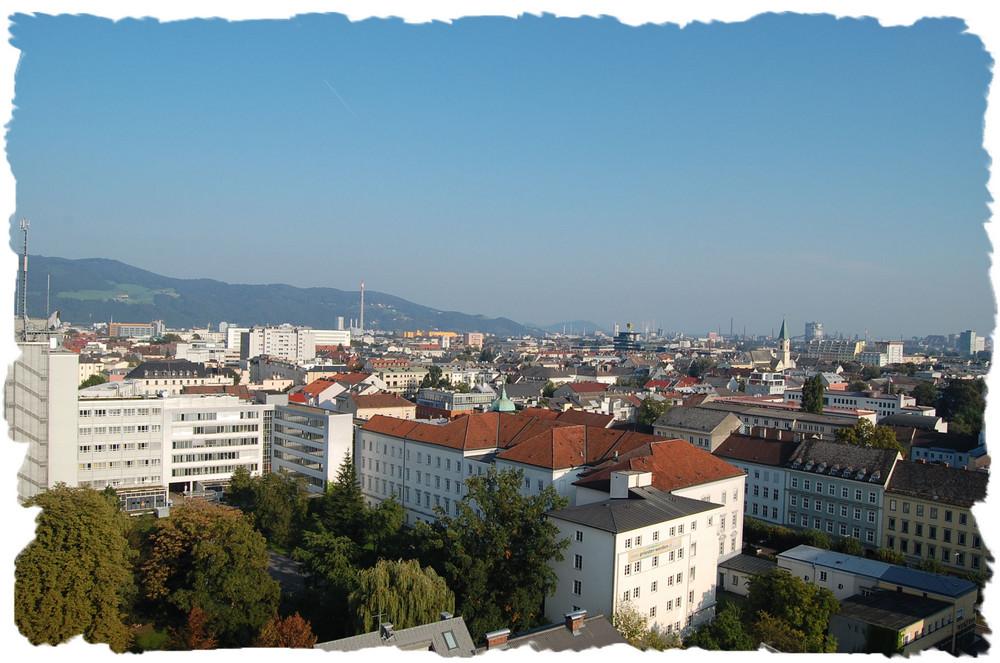 Blick über die Dächer von Linz