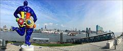 * Blick über die Elbe *
