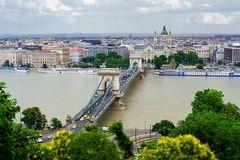Blick über die Kettenbrücke zur St.-Stephans-Basilika