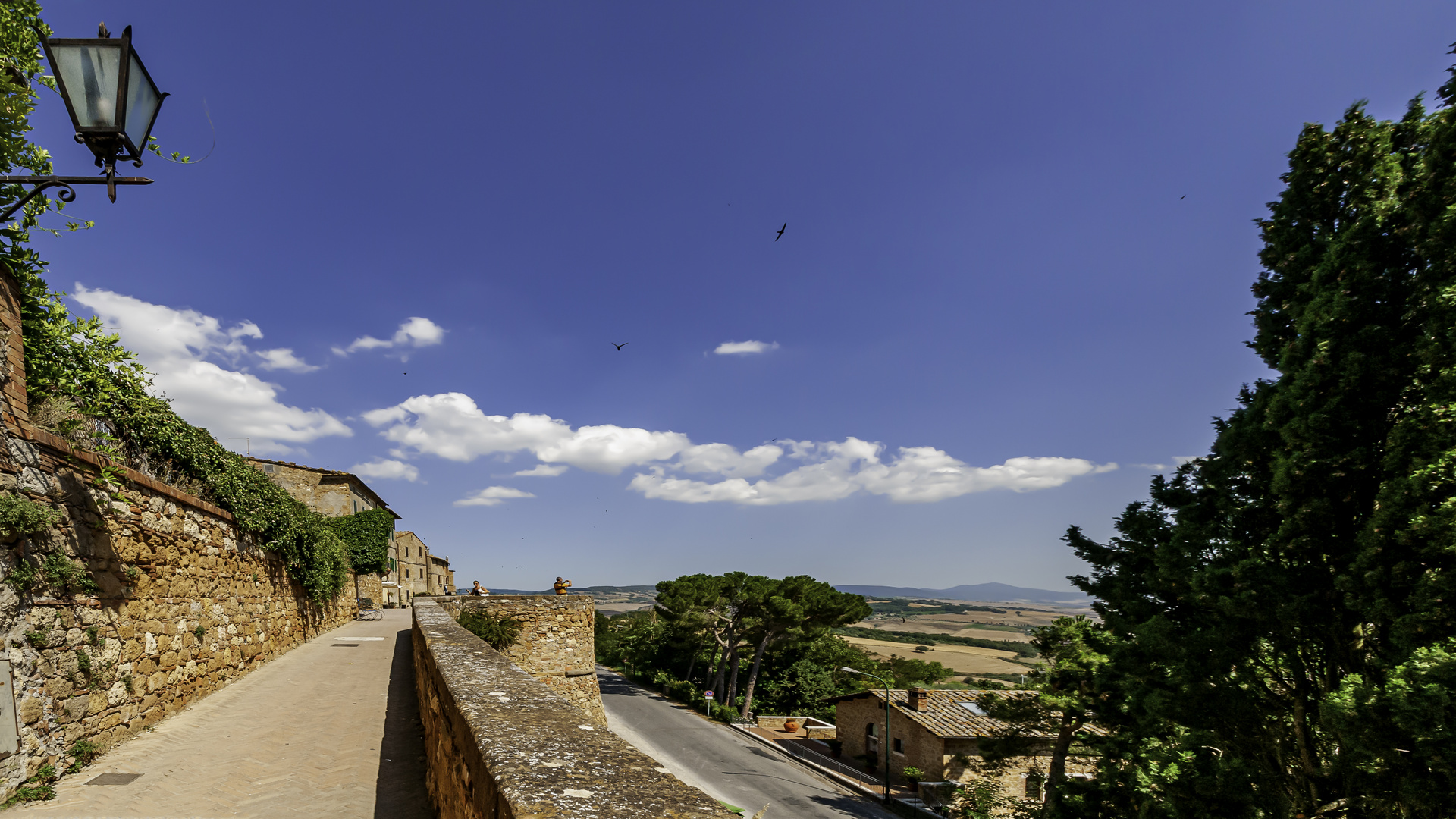 Blick über die Via Castello