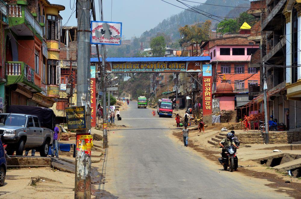 Blick über Gorkha