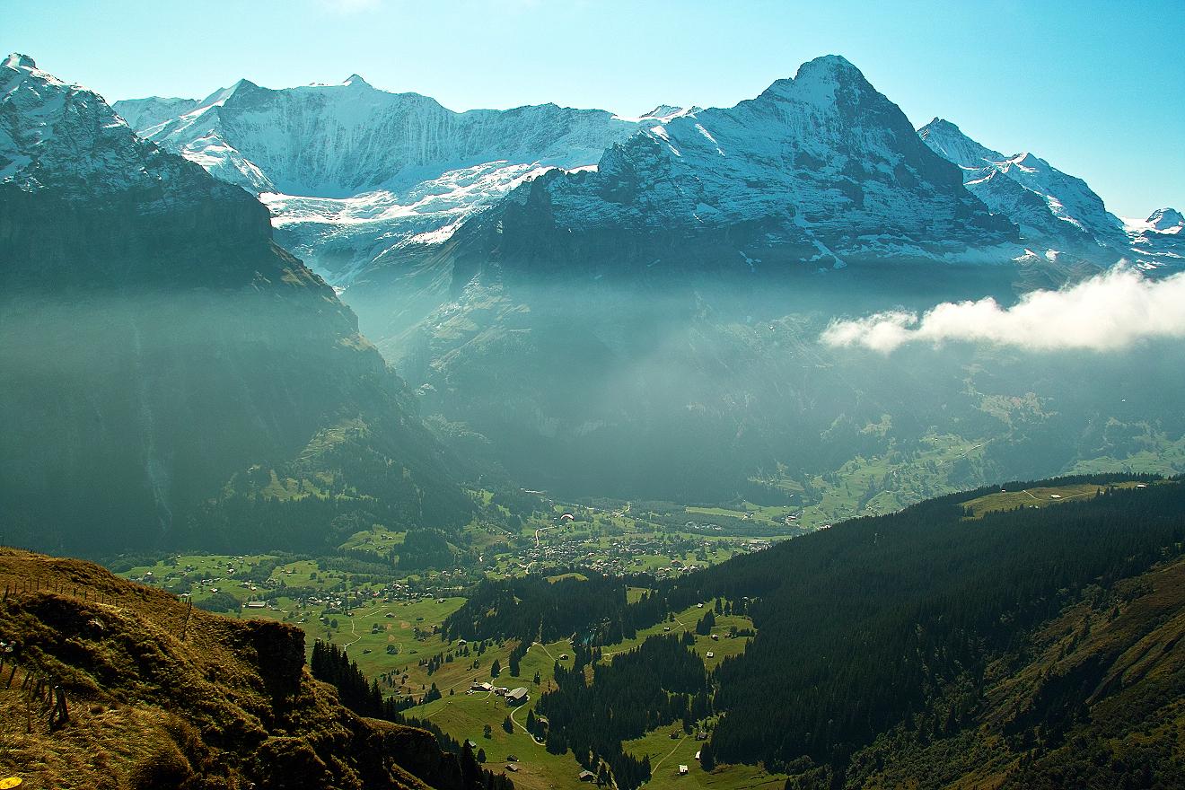 Blick über Grindelwald
