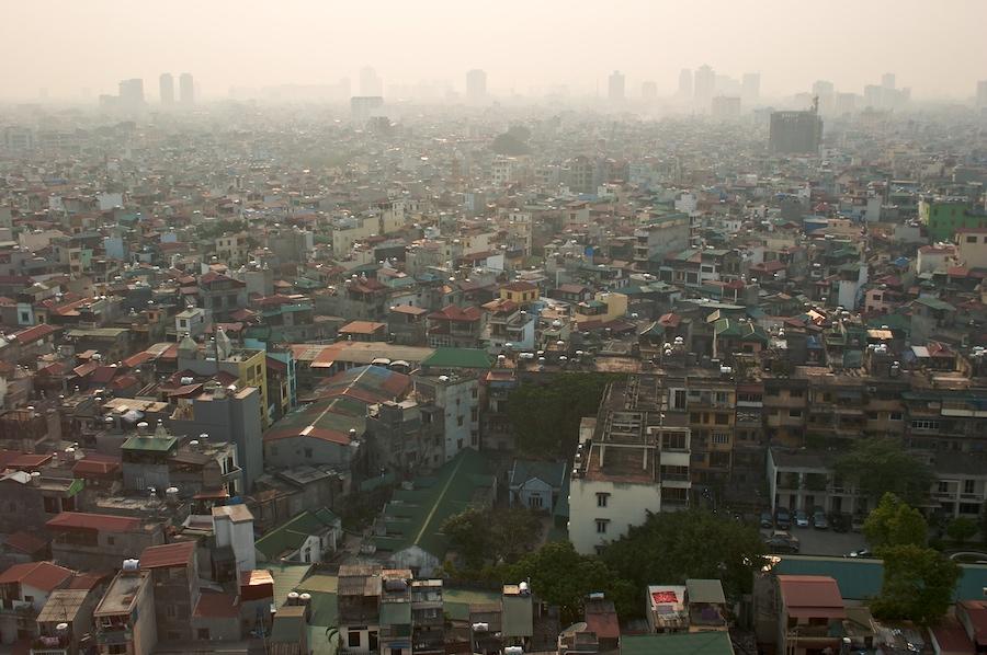 Blick über Hanoi