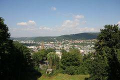 Blick über Marburg vom Schloß in nördliche Richtung