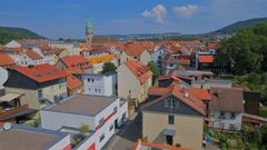 Blick über Meiningen (vista panorámica de Meiningen)