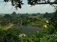 Blick über Nordvietnam.