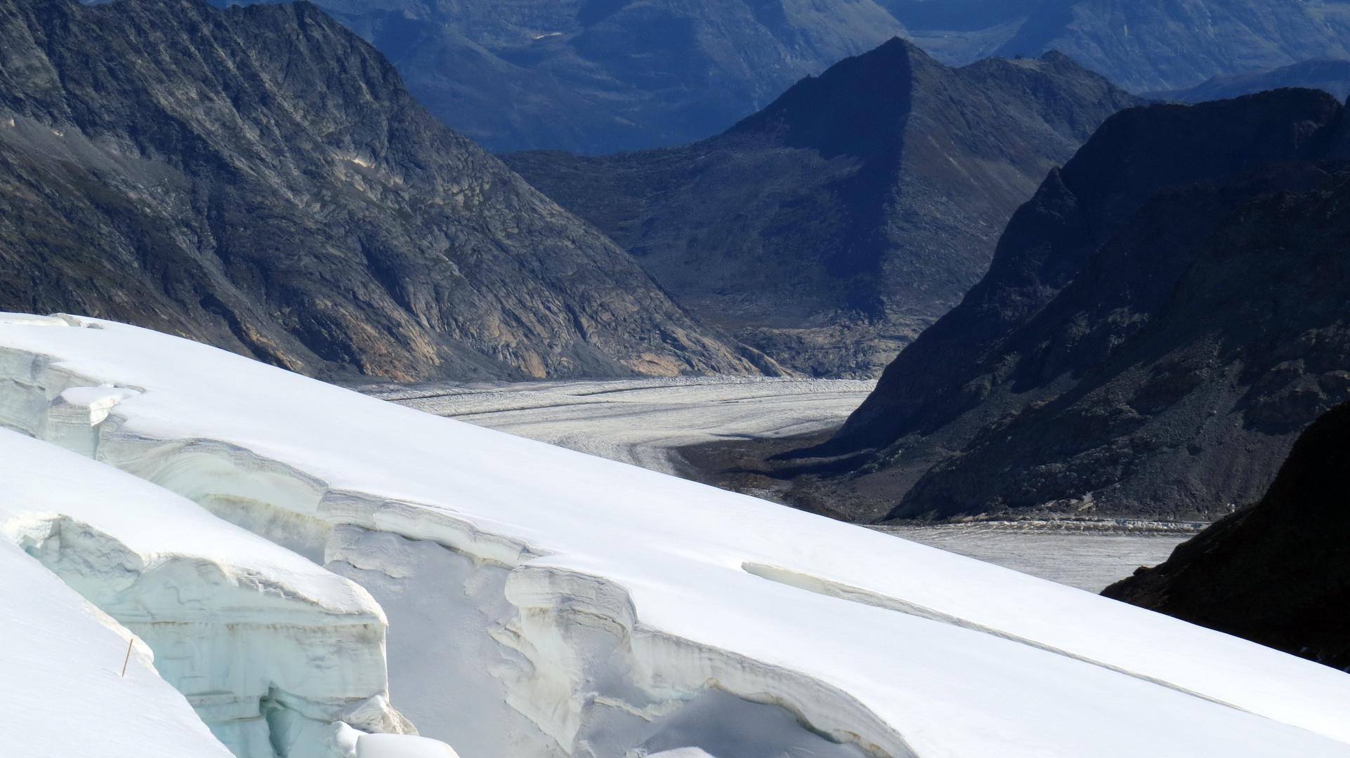 Blick vom Aletschgletscher