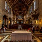 Blick vom Altartisch zur Orgel