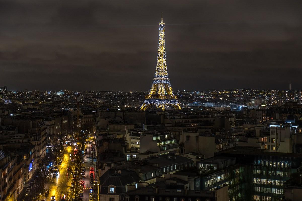 Blick vom Arc de Triomphe