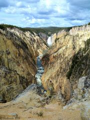 Blick vom Artist-Point auf den Yellowstone River