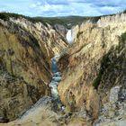 Blick vom Artist-Point auf den Yellowstone River