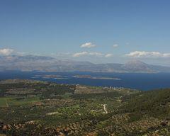 Blick vom Berg auf Alkioniden ( kala nissa )