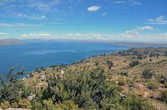 Blick vom Carus mirador zum Titicacasee