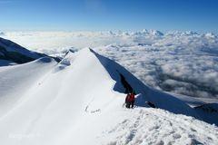 Blick vom Castorgipfel (4226 m)