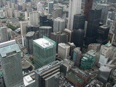 Blick vom CN-Tower auf Toronto-City