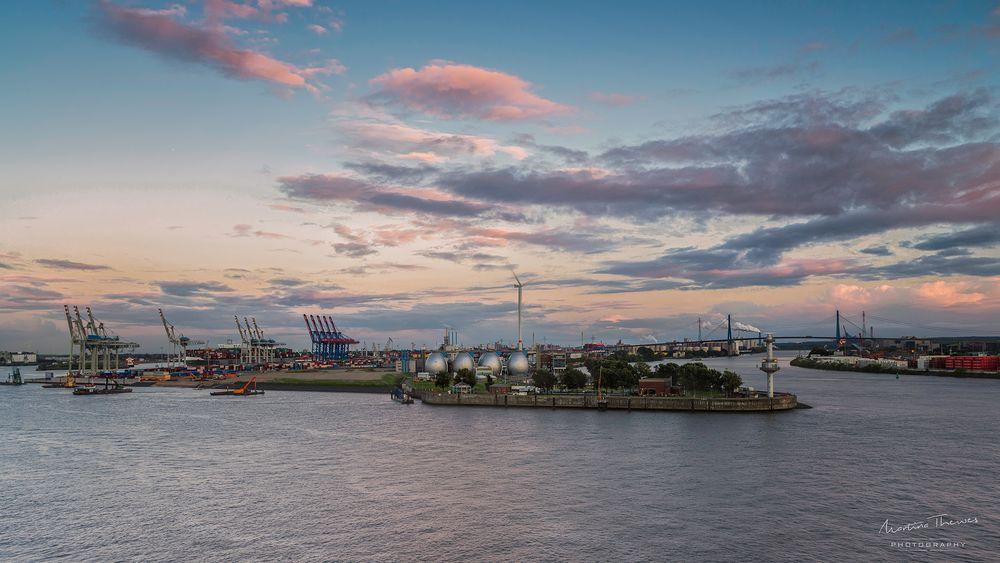 Blick vom Dockland