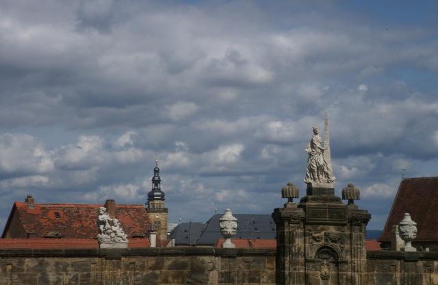 Blick vom Domplatz auf die Altstadt