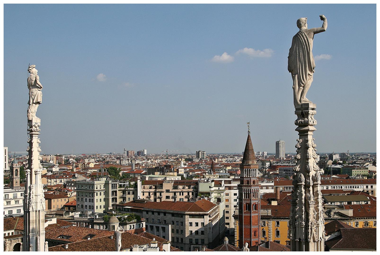 Blick vom Duomo/ Milano