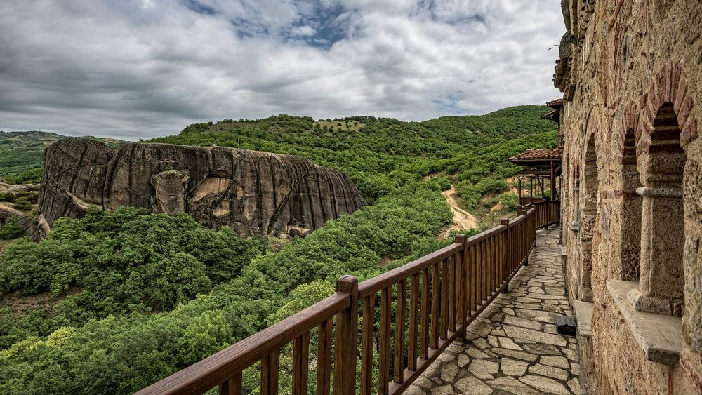 Blick vom ehemaligen Kloster Ypapanti