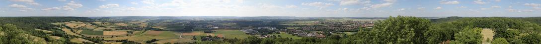 Blick vom Einkorn 360° von Erich Ruck