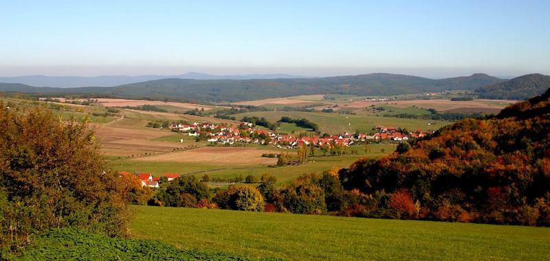 Blick vom Emberg bei Oberalba zum Inselsberg (Thüringer Wald)
