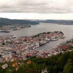 Blick vom Fløyberg auf Bergen