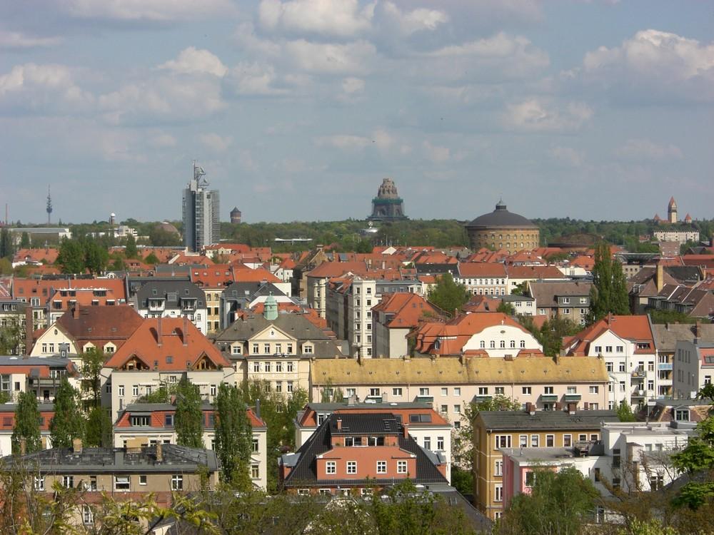 Blick vom Fockeberg in Leipzig nach Südosten
