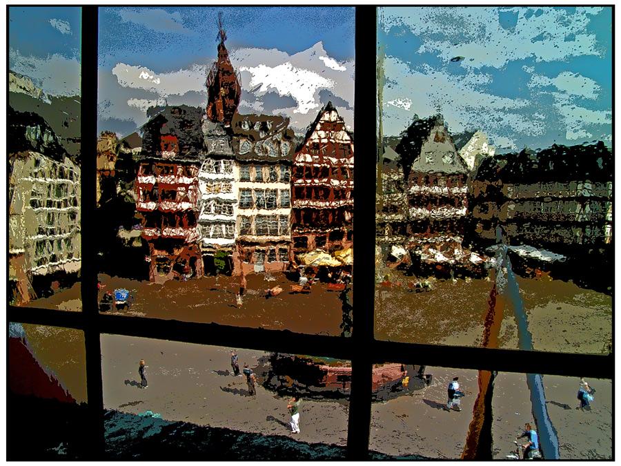 Blick vom Frankfurter *Römer*