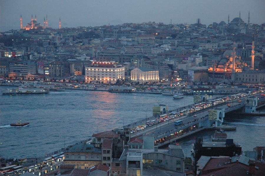 Blick vom Galataturm nach Eminönü (Istanbul)