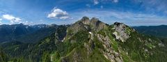 Blick vom Gipfel des Brunnenkopf´s.....