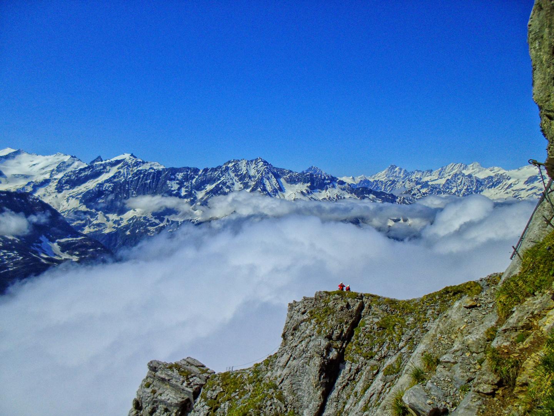 Blick vom Gipfel des Klettersteiges