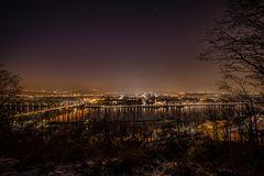 Blick vom Glockenberg auf Koblenz