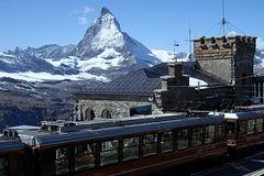 Blick vom Gornergrat aufs Matterhorn