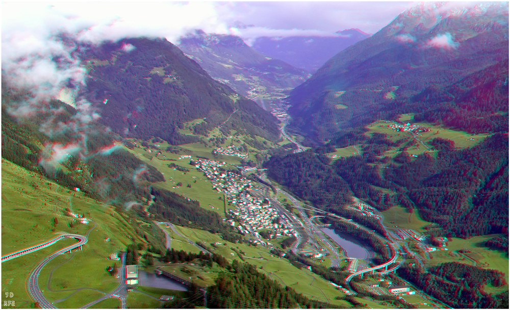 Blick vom Gotthard-Pass...(3D+MPO-Link)