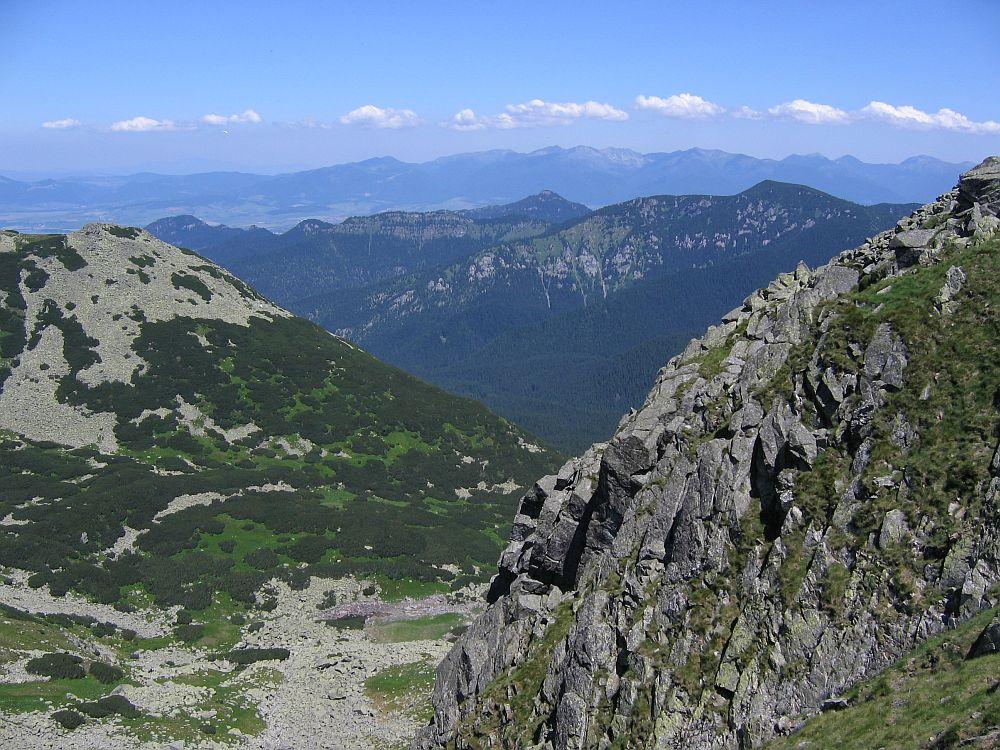 Blick vom Hauptkamm der Nizke Tatry/Slowakei...