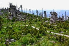 Blick vom Hochstein über den Dreisesselberg