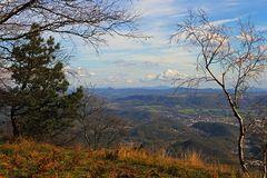 Blick vom Hohen Schneeberg (Dezinsky sneznik) in Böhmen Richtung Riesengebirge