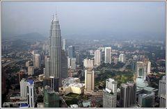 Blick vom Hotelfenster auf die Petronas Türme