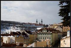 Blick vom Hradschin zum Kloster Strahov
