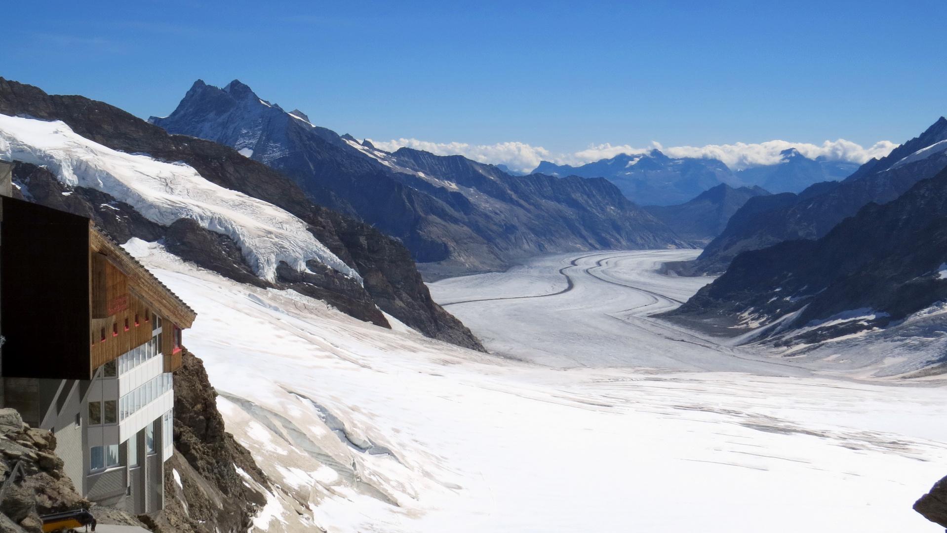 Blick vom Jungfrau-Joch