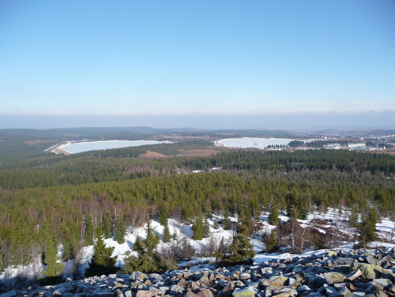 Blick vom Kahleberg im Winter