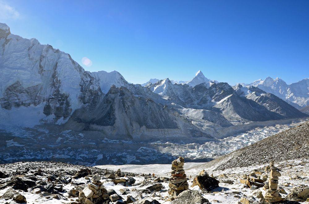 Blick vom Kala Pattar (5545 m) zum Everest-Gebiet